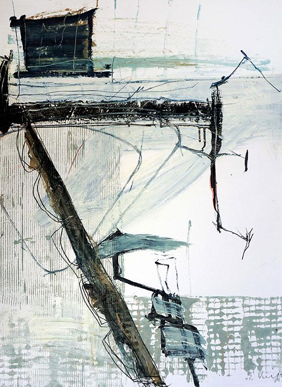 Liaison / Mischtechnik a. Papier / 86 x 61 cm / 2016