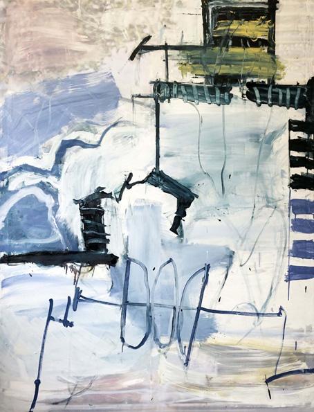 Funk / Öl, Acryl auf Leinwand / 170 x 130 cm / 2018