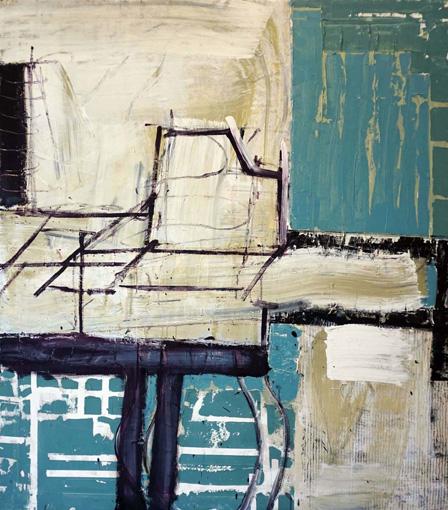 Korridor / Öl, Acryl auf Leinwand / 145 x 125 cm / 2018