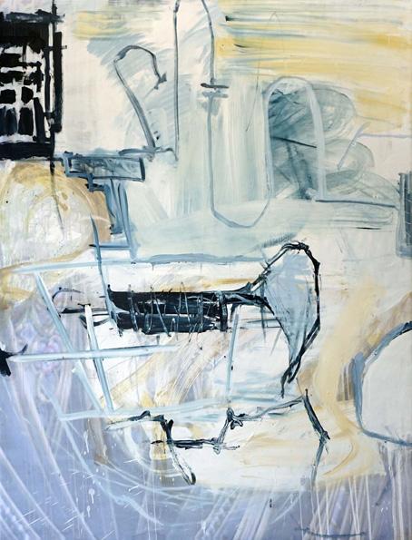 Revier / Öl, Acryl auf Leinwand / 170 x 130 cm / 2018