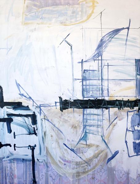 Schwenk / Öl, Acryl auf Leinwand / 170 x 130 cm / 2018