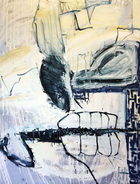Sektor / Öl, Acryl auf Leinwand / 170 x 130 cm / 2018